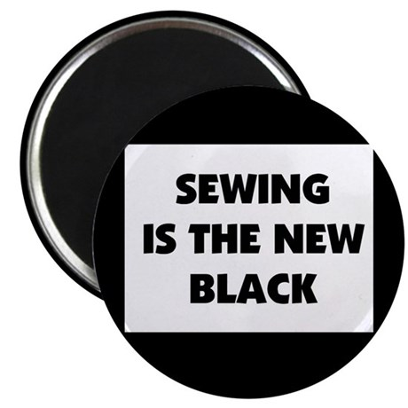 "Sewing is the New Black 2.25"" Magnet (100 pack)"