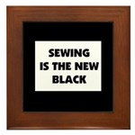 Sewing is the New Black Framed Tile