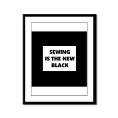 Sewing is the New Black Framed Panel Print