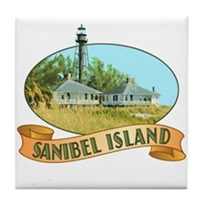 Sanibel Lighthouse - Tile Coaster