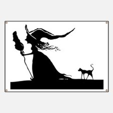 Witch & Cat Banner