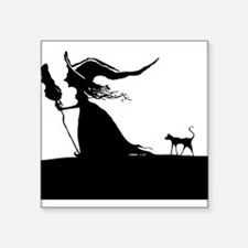 Witch & Cat Sticker