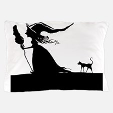 Witch & Cat Pillow Case