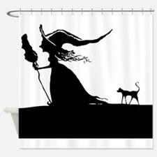 Witch & Cat Shower Curtain