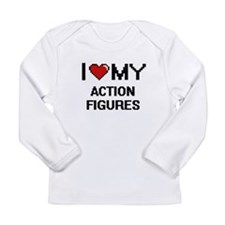 I Love My Action Figures Digit Long Sleeve T-Shirt