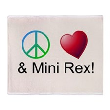 Peace Love Mini Rex Throw Blanket