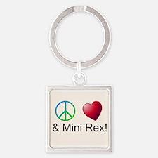 Peace Love Mini Rex Keychains