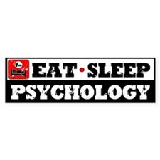 Eat Sleep Psychology Bumper Sticker