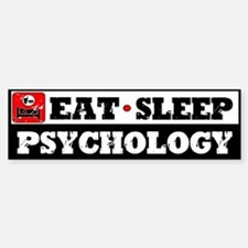 Eat Sleep Psychology Sticker (Bumper)