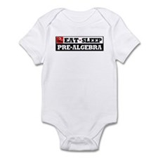 Eat Sleep Pre-Algebra Infant Bodysuit