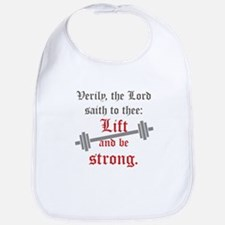 Lift And Be Strong Bib