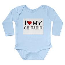I Love My Cb Radio Digital Retro Design Body Suit