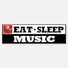 Eat Sleep Music Bumper Bumper Sticker
