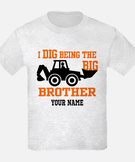 Personalized Big Brother Backho T-Shirt