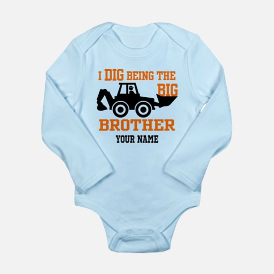 Personalized Big Broth Long Sleeve Infant Bodysuit