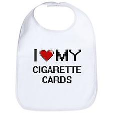 I Love My Cigarette Cards Digital Retro Design Bib