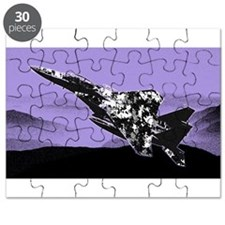 F-15 Eagle and Mountains - Lilac Puzzle