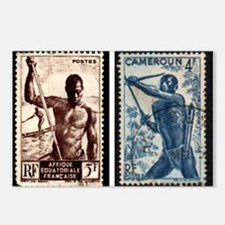 African Spear Fisherman a Postcards (Package of 8)