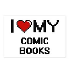 I Love My Comic Books Dig Postcards (Package of 8)