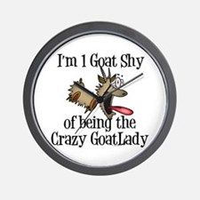 Crazy Goat Lady Wall Clock