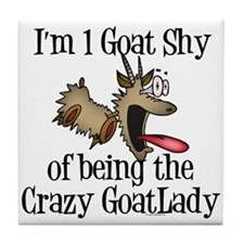 Crazy Goat Lady Tile Coaster