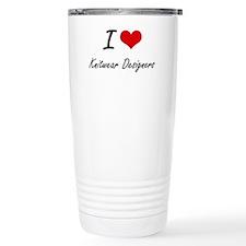 I love Knitwear Designe Travel Mug