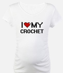 I Love My Crochet Digital Retro Shirt