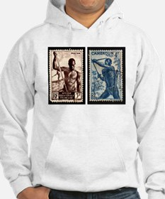 African Spear Fisherman and Bow Hoodie