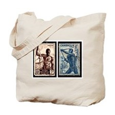 African Spear Fisherman and Bow Hunter Tote Bag