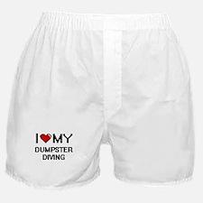 I Love My Dumpster Diving Digital Ret Boxer Shorts