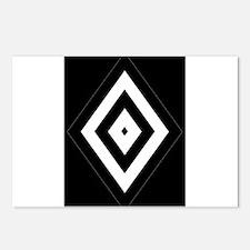 Black/Silver Diamond62 Postcards (Package of 8)