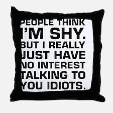 Funny bodybuilding Throw Pillow