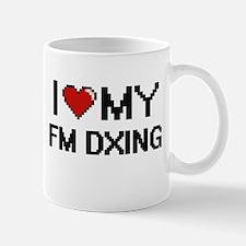 I Love My Fm Dxing Digital Retro Design Mugs