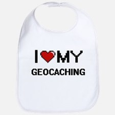 I Love My Geocaching Digital Retro Design Bib