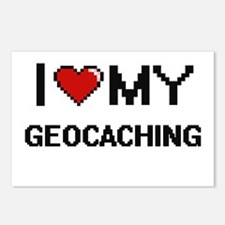 I Love My Geocaching Digi Postcards (Package of 8)