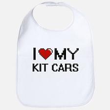 I Love My Kit Cars Digital Retro Design Bib