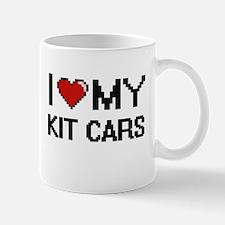 I Love My Kit Cars Digital Retro Design Mugs