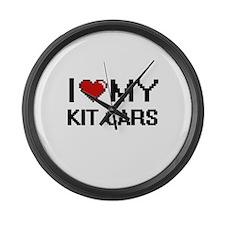 I Love My Kit Cars Digital Retro Large Wall Clock