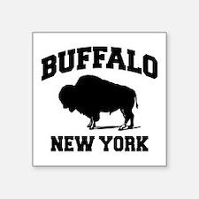 "Buffalo New York Square Sticker 3"" x 3"""
