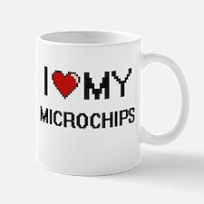I Love My Microchips Digital Retro Design Mugs