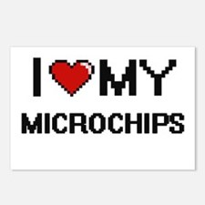 I Love My Microchips Digi Postcards (Package of 8)