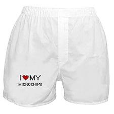 I Love My Microchips Digital Retro De Boxer Shorts