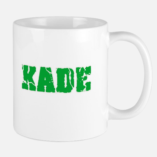 Kade Name Weathered Green Design Mugs