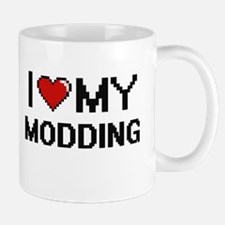 I Love My Modding Digital Retro Design Mugs
