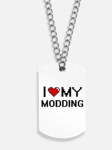 I Love My Modding Digital Retro Design Dog Tags