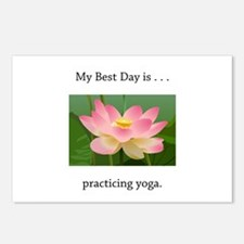 Best Day Pink Yoga Lotus Postcards (Package of 8)