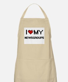 I Love My Newsgroups Digital Retro Design Apron