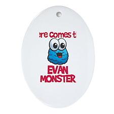 Evan Monster Oval Ornament