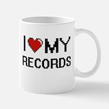 I Love My Records Digital Retro Design Mugs