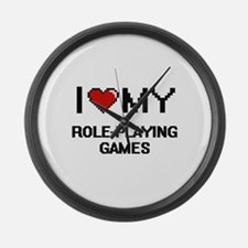 I Love My Role-Playing Games Digi Large Wall Clock